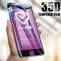 ZNP 35D Protective Glass on the For iPhone 6 6s 7 8 plus XR X XS glass full cover iPhone Xs Max Screen Protector Tempered Glass