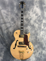2019 новая джазовая электрогитара, фиксация Pull string board и золотые фитинги, полуакустическая Дека Archtop гитара, Бесплатная доставка!