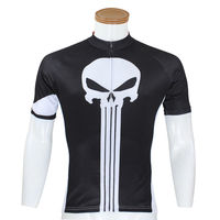 Punisher Vintage Cycling Jersey Men S Cycling Jerseys Riding Bicycle Shirts S 5XL Black