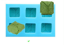 Free shipping DIY Sell hot 3D 6hole  leaves shaped silicone mold fondant Cake decoration Handmade soap