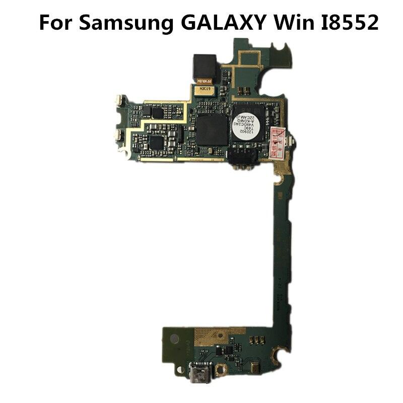 Полный рабочий используется оригинальный доска для Samsung Galaxy Win I8552 WCDMA 1 г Оперативная память 4 г Встроенная память материнской плате МБ пластины