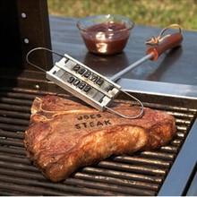 43 см принадлежности для барбекю фирменный Железный Тонг 55 букв DIY инструмент для барбекю с буквенным принтом инструмент для стейка для мяса вилки для гриля инструмент для барбекю аксессуары 78