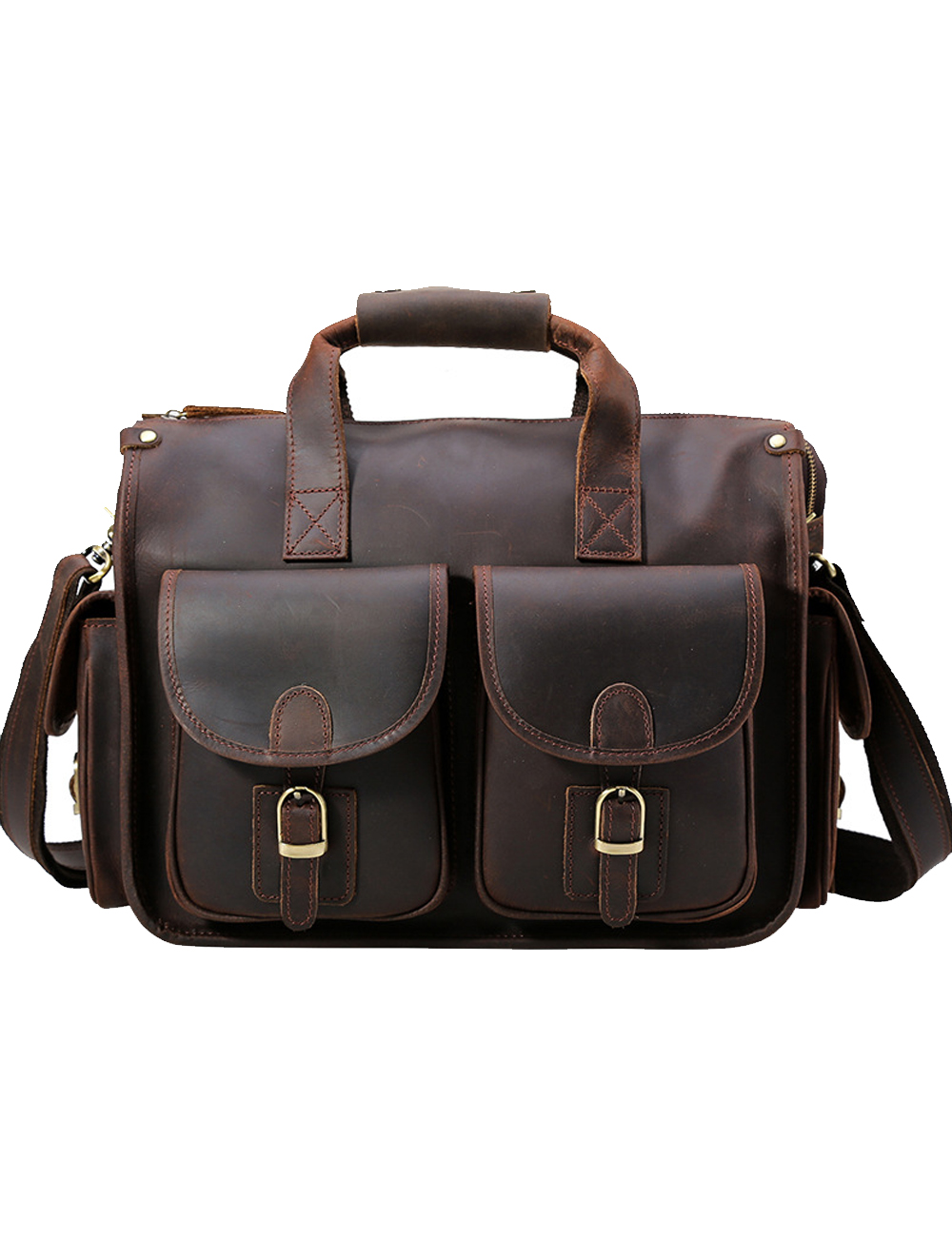 Для мужчин schwear Для мужчин из натуральной кожи Multi карман сумка через плечо Сумочка 40 см