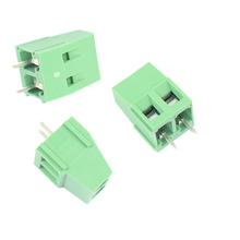 500pcs Pitch 3.81mm KF128-2P Pin 2P Screw Plug-in PCB Terminal Block male/female Pluggable Connector morsettiera 300V 10A цены