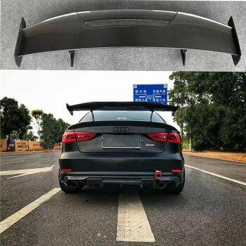 Estilo do carro Exterior Cauda Spoiler Traseiro Asa Tronco Lábio de Fibra de Carbono Modificado Decoração Fit For Audi A3 S3 RS3 LOUCO estilo Spoiler