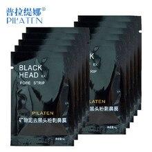 10pcs/lot Face Care PILATEN Nose Facial Blackhead Remover Mask Minerals Pore Cleanser Black Head EX Pore Strip Free Shipping