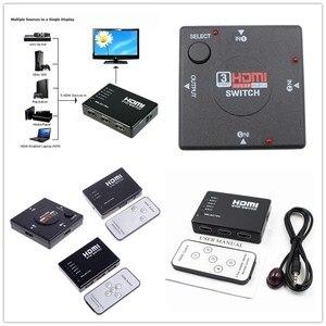 Image 2 - 1 adet HDMI Portu 1080 P Switcher XBOX 360 PS3 PS4 Android HDTV 3 Giriş 1 Çıkış 4 K adaptörü HDMI dağıtıcı 3/5 Bağlantı Noktası HDMI Anahtarı
