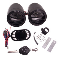 Motorrad Bluetooth MP3 Player Lautsprecher Motorrad Audio FM Radio TF Sound Wireless Remote Alarm USB Mobile Ladung Roller ATV