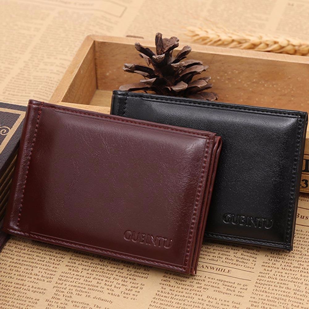 Xiniu Men Leather Card Cash Receipt Holder Organizer Bifold Wallet Purse