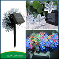 2set/Lot 50pcs Solar  peach flower petal ball led lighting String Christmas Holidy Party Wedding Xmas decoration LED String lamp