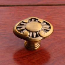 Amarillo latón antiguo drwer zapato pomos tiradores de gabinete bronce mueble de cocina alacena tiradores de puertas de armario knpbs