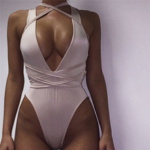 2017 Women Bodysuit Rompers Womens Jumpsuit Sleeveless Sexy Backless Bodycon Jumpsuits American Apparel(China)