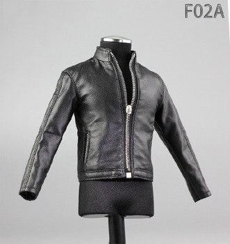 179aed0f1b F02A/B 1/6 Maschio Vestiti di Nero/Verde Scuro Set Giacca e Scarpe