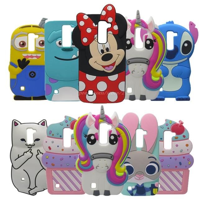 designer fashion 7f747 eca89 3D Cartoon Silicone Case For LG K8 Case Unicorn Case For LG K8 Lte K350  K350E K350N 5.0