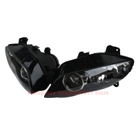 Clear Lens Motorcycle Plastic Front Light Lamp Case For Yamaha YZF R1 YZF R1 2004 2005 2006 Headlight Housing Set