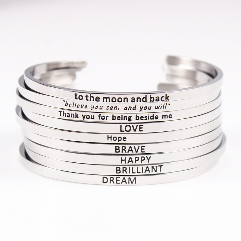 Personalized Initials Bracelets Bangles