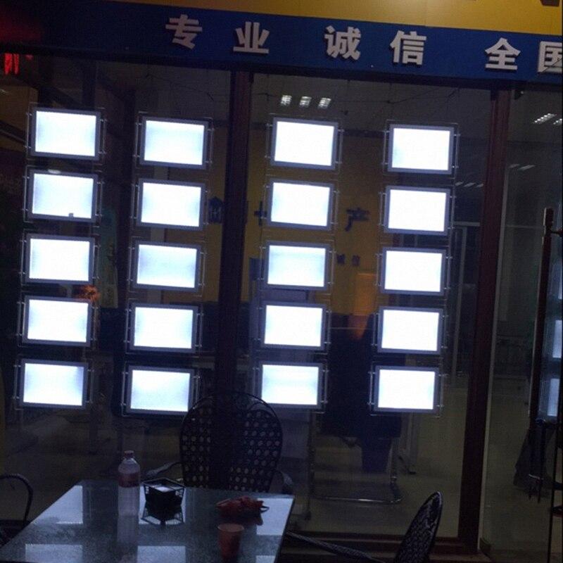 20 unids A3 doble cara agente inmobiliario Oficina ventana LED ...
