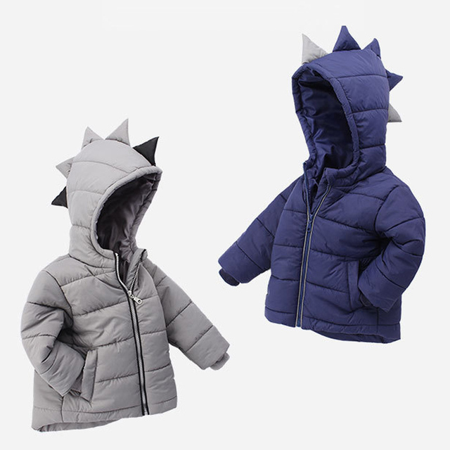 ae9927b22 Winter Children Boys Jackets Cartoon Tyrannosaurus Girls Winter Coat Kids  Outerwear Baby Boys/Girls Jacket
