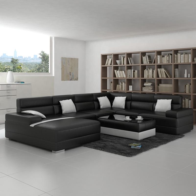 Living Room Sofa With Modern Design Black Color In Living Room Sets