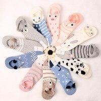 Japan And South Korea Stereo Ear Cartoon Animal Harajuku Cute Candy Bar Invisible Socks Can Not