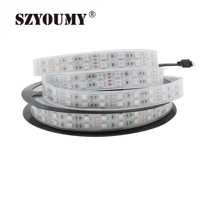 Official Website Szyoumy 5m Double Row 5050 Led Strip 600 Leds Smd Light Waterproof 12v 120 Leds/meter Free Shipping Meticulous Dyeing Processes Lights & Lighting Led Lighting