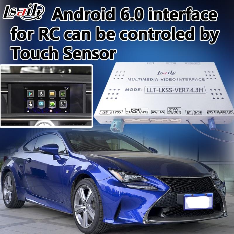 Plug & Play Android di Navigazione GPS Per Auto per il Nuovo Lexus RC con Mirrorlink Navigazione On-Line In Tempo Reale di Navigazione, ecc.