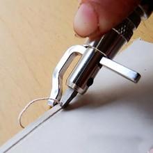 5 в 1 профессиональный набор для прессования краев и кожевенного ремесла Регулируемый инструмент для сшивания и углубления кожевенного шва инструменты для шитья аксессуары