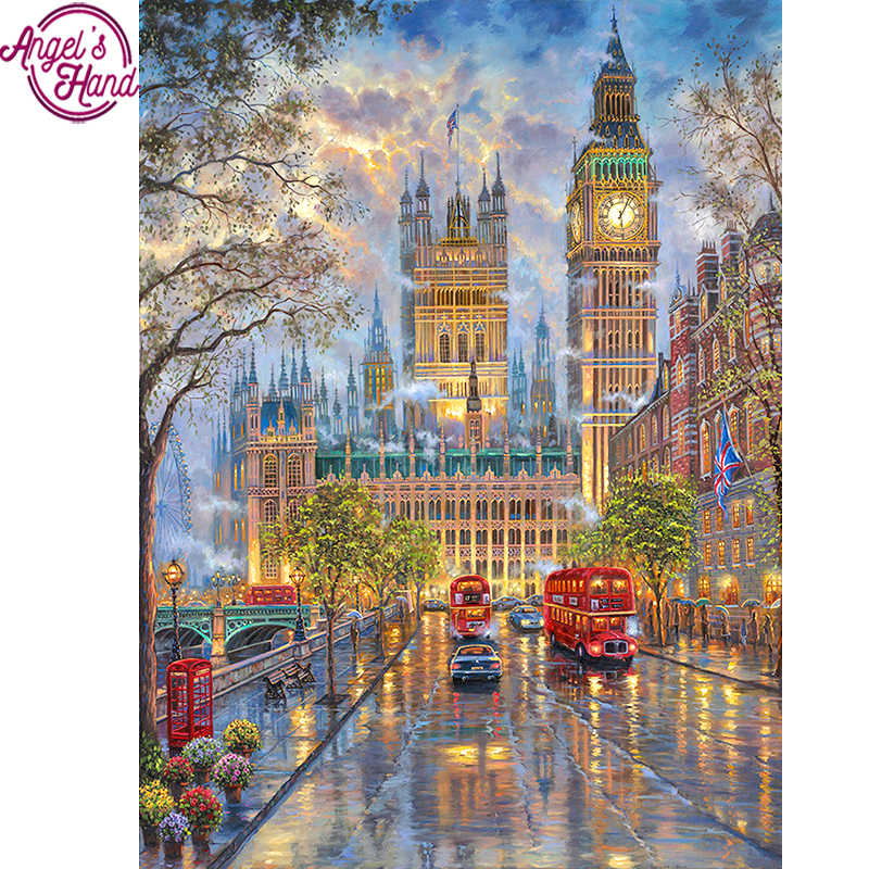 Full Square Diamond 5D DIY Diamond Painting London Street View Embroidery Cross Stitch Rhinestone Mosaic Painting Decor Gift