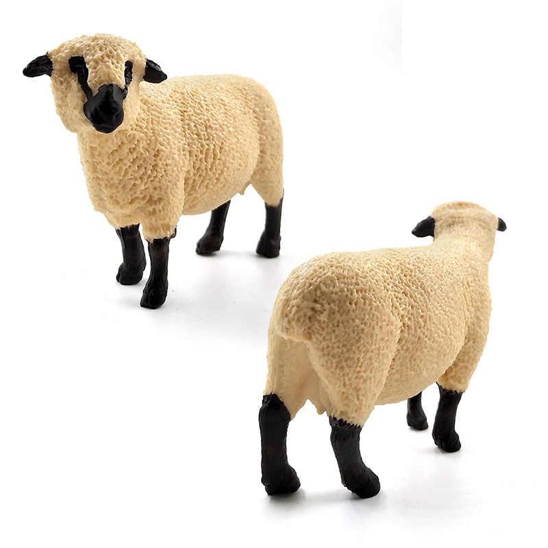 Моделирование Лес животных модель волк овец рисунок Сказочный Сад пластик украшения развивающие игрушечные лошадки Фигурка Статуя подарок