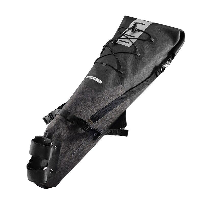 ROCKBROS велосипедная Сумка водонепроницаемая Светоотражающая 10л Большая вместительная седельная сумка велосипедная Складная Задняя сумка MTB дорожный багажник велосипедная сумка - Цвет: Style 2