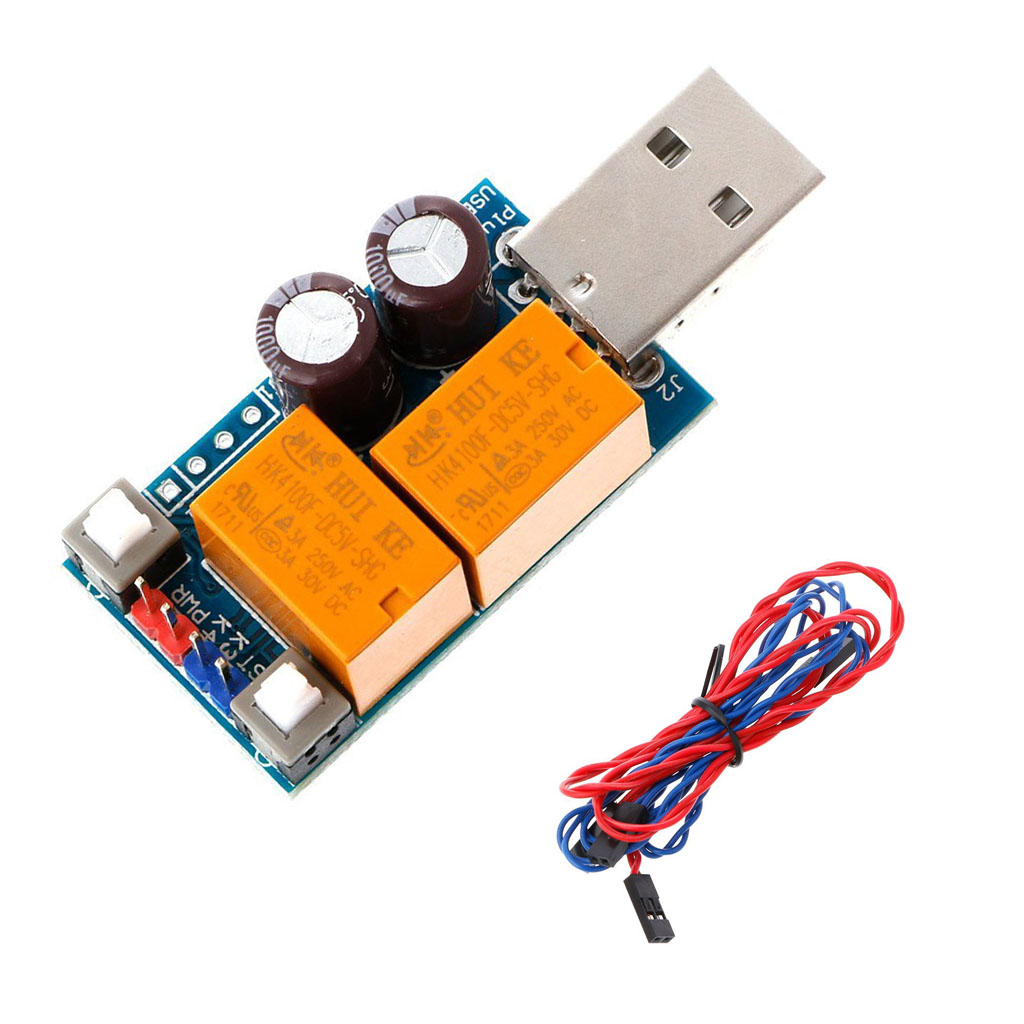 New 2.8 Double Relay Plus USB Watchdog Card Computer Unattended Automatic Restart Switch Machine Mining Game Server BTC Miner