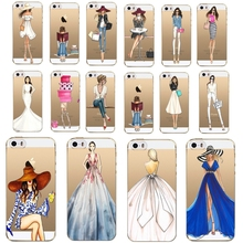 Fashion case for iphone 7 Plus 5 5s 5se 4 4s 6 6s 7 Sexy Girl Cases Transparent Clear Soft tpu Phone Cover 1pc/lot