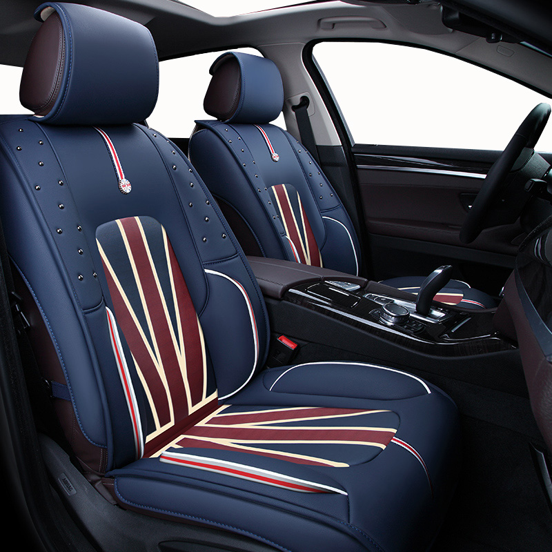 For Vauxhall Astra Corsa Vectra Black 1+1 Fabric Front Seat Covers