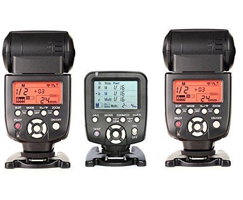 560TX-WITH-560IIIx2pcsYongnuo YN560-TX LCD Wireless Manual Flash Controller + 2pcs YN-560 III Flash Speedlite Light For Canon
