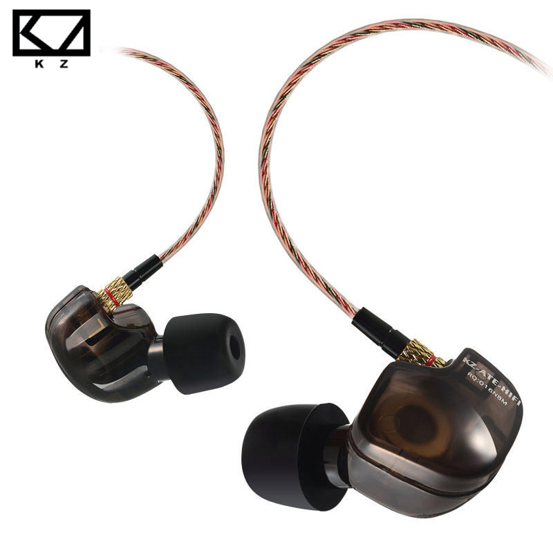 KZ ATE S Copper Driver HiFi Sport Headphones In Ear Earphone For Running With Foam Eartips With Microphone kz ed8m earphone 3 5mm jack hifi earphones in ear headphones with microphone hands free auricolare for phone auriculares sport