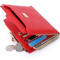 Новый Небольшой Дизайнер Тонкий Женщины Красный Бумажник Тонкий Молния Дамы Кожа PU Монета Кошельки Женский Кошелек Мини Сцепления Дешевые Женские кошельки