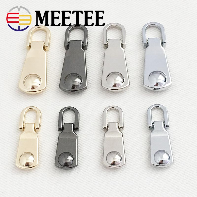 20pcs Metal Zipper Slider with Webbing Zip Puller Zip Fastener Zipper Buckle