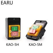 Водонепроницаемый кнопочный переключатель Мощность On/Off переключатель KAO-5/BSP210F-1B 10A 380V для плазменной резки настольная сверлильная машина переключатель