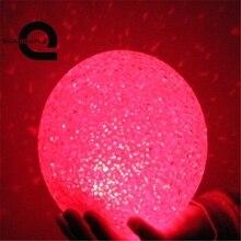 Четверка хрустальный шар ночник Красочные Изменение светодиодный ночник частицы мяч светящиеся огни домашнего освещения украшения