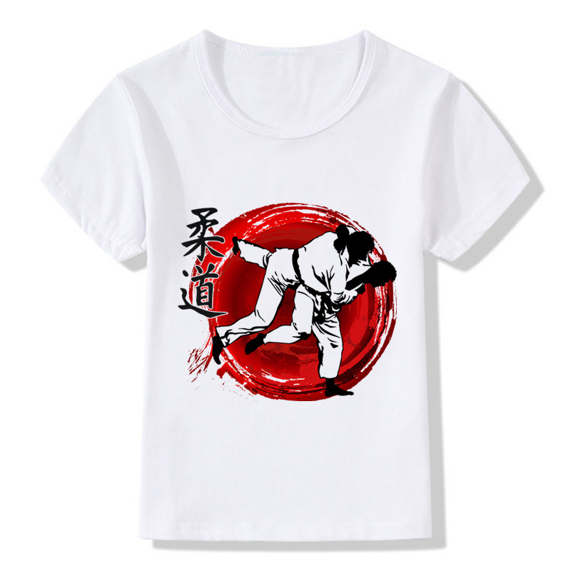 Baby Boys & Girls Evolution Of A Judo T-shirt Sommar Barn Toppar - Barnkläder - Foto 2