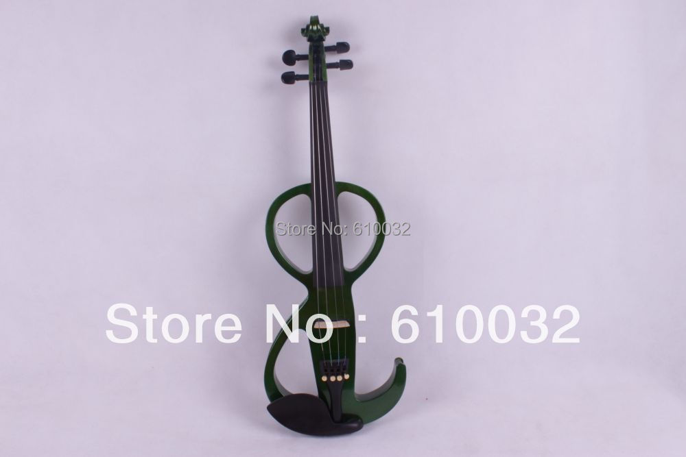 4/4 Electric Violin Solid wood 11 --29#  green color  4string4/4 Electric Violin Solid wood 11 --29#  green color  4string