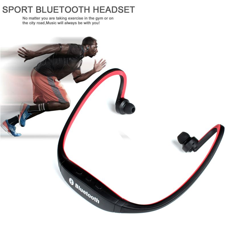 Original S9 Sport Wireless Bluetooth 3.0 Earphone Headphones headset for iphone 6/5/4 galaxy S5/S4/3 iOS/Android with microphone wireless bluetooth earphone headphones s9 sport earpiece headset with tf card slot 8g auriculares with micro for iphone android