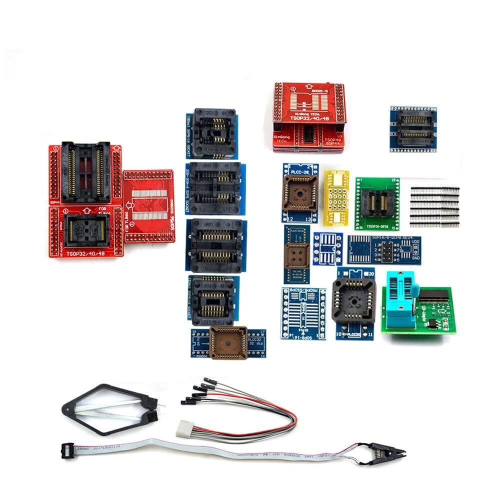 100% Original Neueste 24 Pcs Universal Adapter Buchse + Ic Extractor Für Programmierer Für Tl866ii Tl866cs Tl866a Rt809f Rt809h
