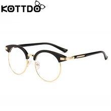 a2adfdf2f5b19 KOTTDO 2018 Óculos Moldura para Homens Óculos Olho de Gato Do Vintage Óculos  Quadros Mulheres óculos de leitura óculos Accessrio.