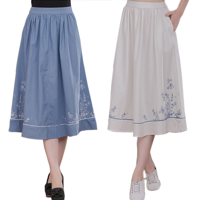 a9fc5bbc86 Tulle de La Falda de Las Mujeres Faldas Largas De Algodón Elástico de La  Cintura Bolsillo