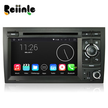 Beiinle Car 2 Din 1024*600 16G  QUAD CORE Android 4.4.4  DVD GPS Radio Stereo Navigator for Audi A4 S4 RS4 (2002-2008)