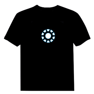 Clothes shiny t-shirt thermonuclear core voice activated t-shirt