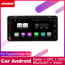 ZaiXi android car dvd gps multimedia player For Pontiac Vibe 2003~2008 car dvd navigation radio video audio player Navi Map
