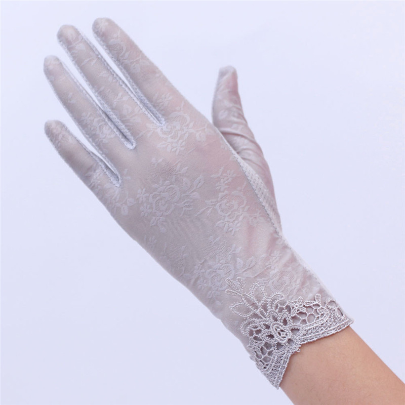 Women's Summer UV-Proof Driving Gloves Gloves Lace Gloves luvas hand gloves guantes eldiven handschoenen 40FE1904