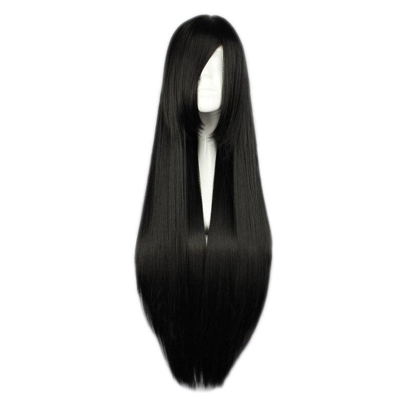 Mcoser 15 cores multi-color 80cm longo em linha reta cosplay traje feminino festa peruca de cabelo sintético completo frete grátis-001
